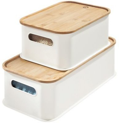 IDesign® Eco Stacking Bin with Bamboo Lid