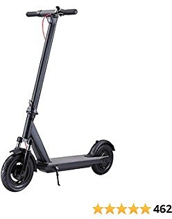 """QINGOR Electric Scooter Powerful 350W Motor 10"""" Solid Tires One-Step Fold for Adults"""