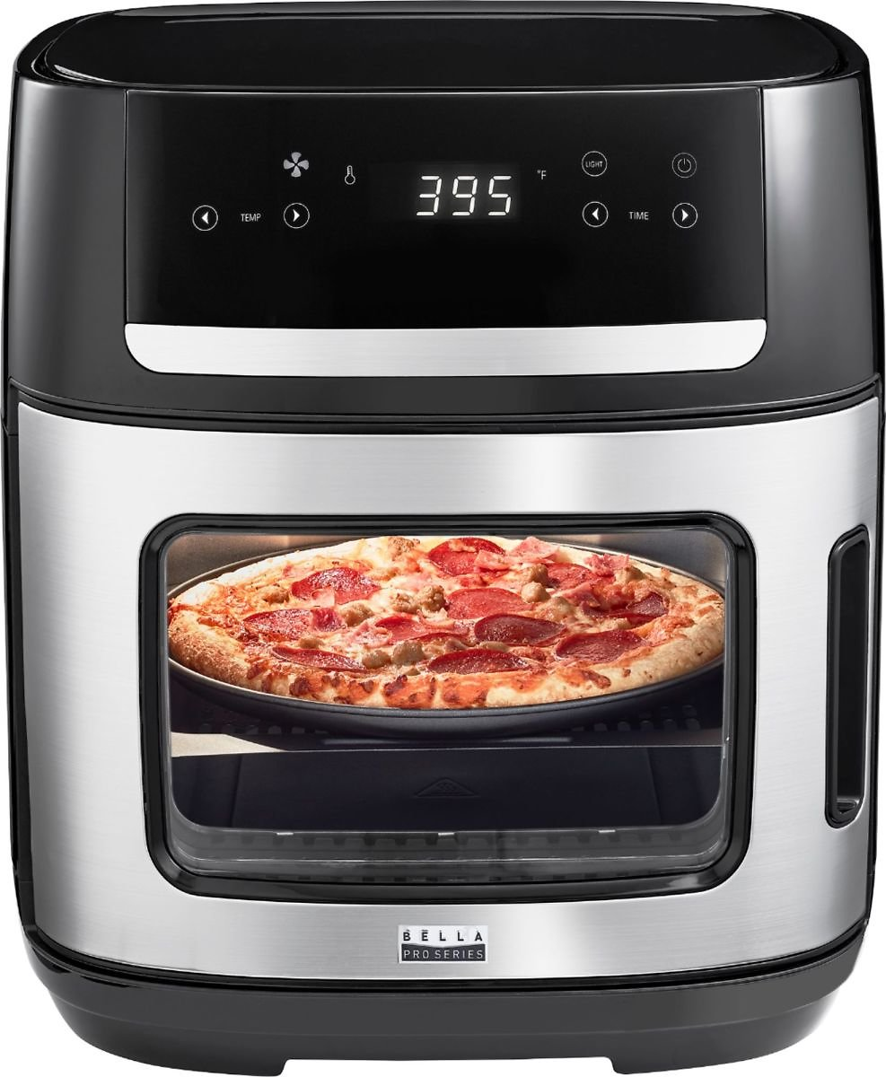 Bella Pro Series 4-Slice Convection Toaster Oven + Air Fryer with Dehydrator & Rotisserie Settings Stainless Steel 90116 - Best Buy