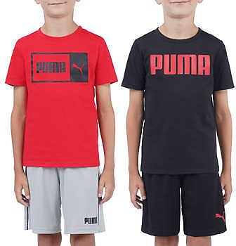 Puma Kids' 4-piece Set, Black and Red