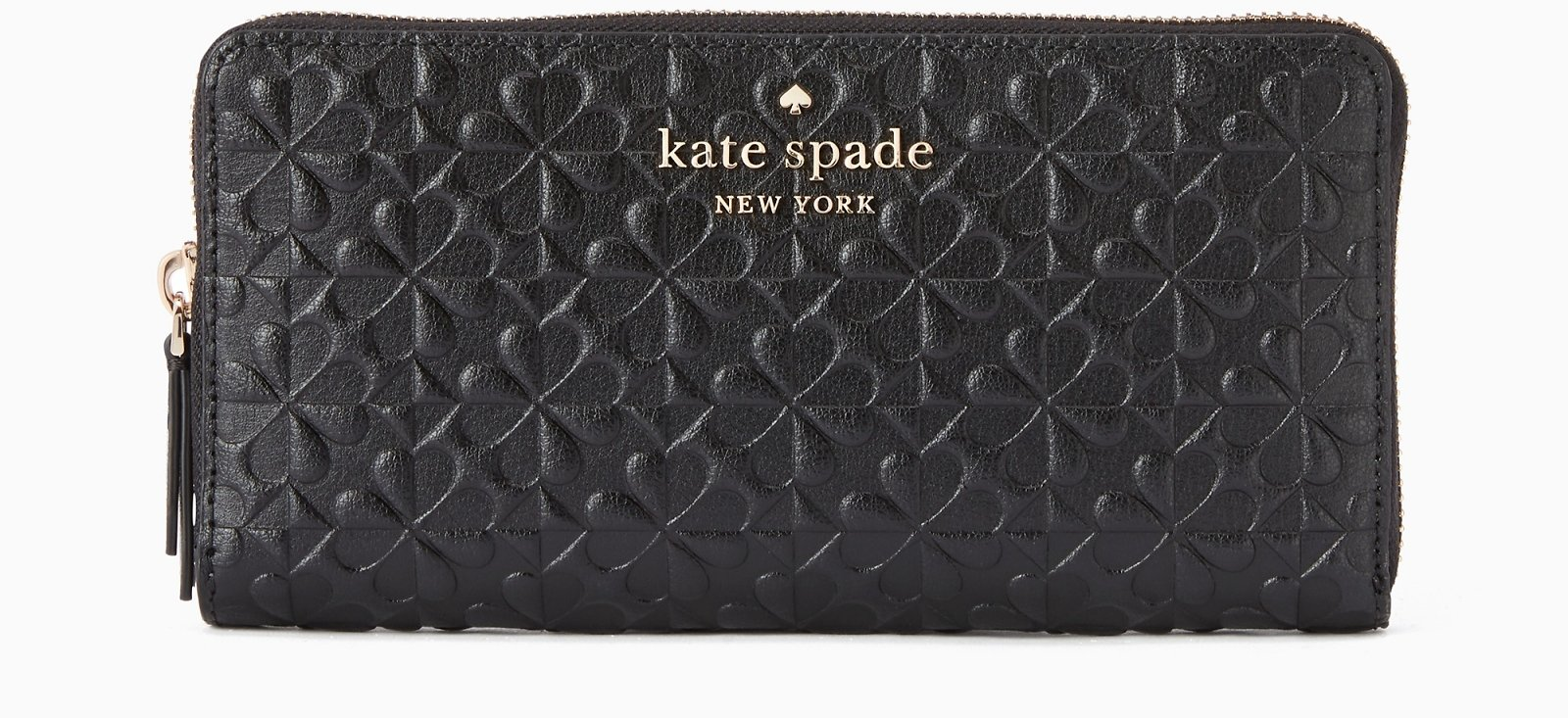 Hollie Spade Clover Geo Embossed Large Continental Leather Wallet