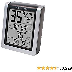 AcuRite 00613 Digital Hygrometer & Indoor Thermometer Pre-Calibrated Humidity Gauge
