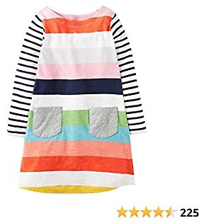 Amazon : Girls Casual Dress for Kids Cotton Long Sleeve Shirt Clothes $12.59($17.99) + Prime Shipping