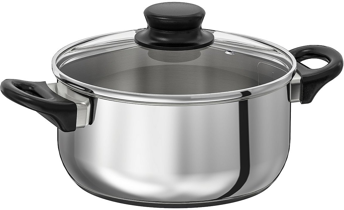 ANNONS Pot with Lid, Glass/stainless Steel3.0 Qt
