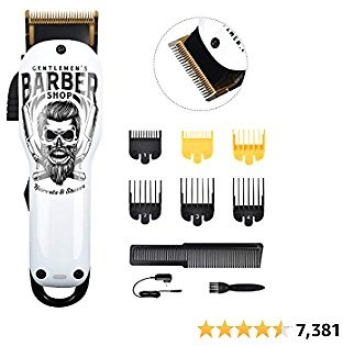 BESTBOMG Updated Professional Hair Clippers Cordless Hair Haircut Kit Rechargeable 2000mAh Hair Beard Trimmer Haircut Grooming Kit with 6 Guide Combs & for Men/Father/Husband/Boyfriend