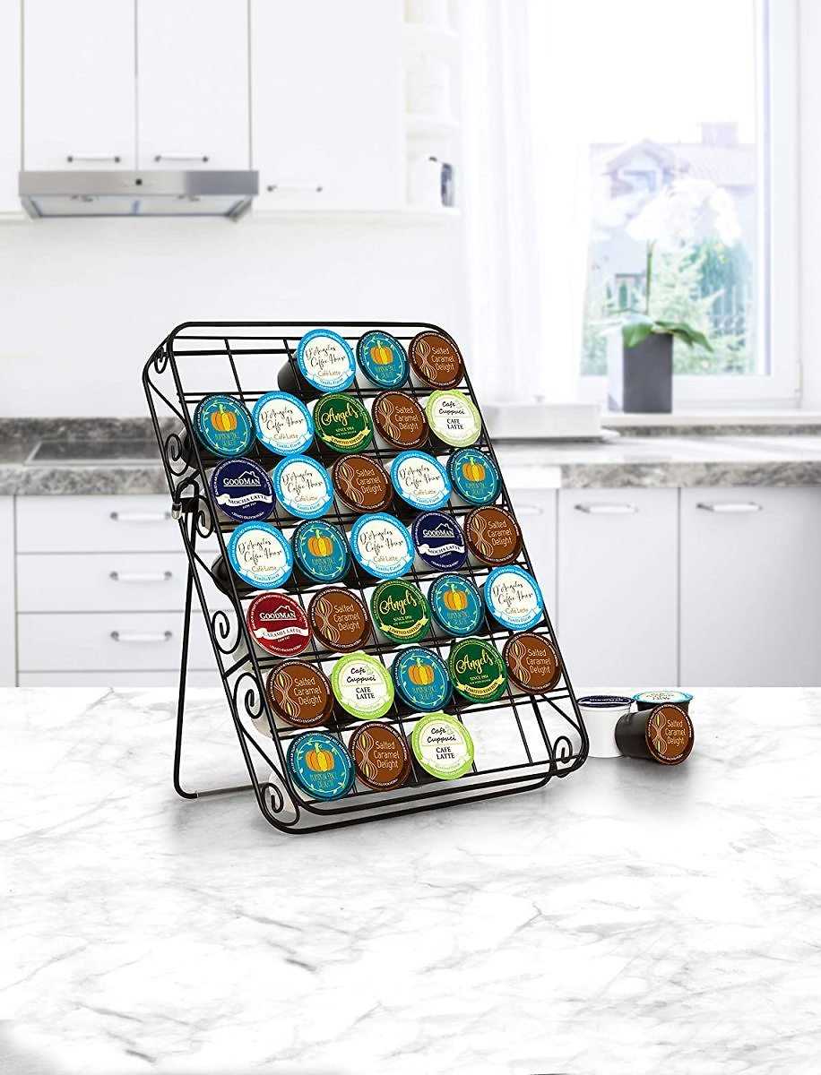 Spectrum Diversified Scroll Single Cup Caddy, Countertop & Drawer Storage for Keurig Pods