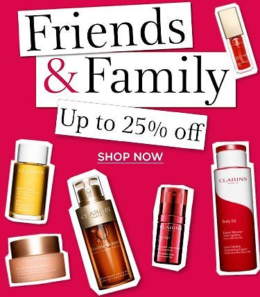 Up to Extra 25% Off Clarins Friends & Family Sitewide Sale