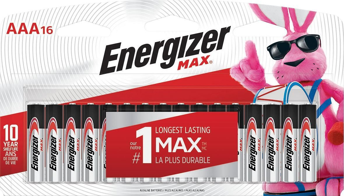 Energizer MAX AAA Batteries (16-Pack) E92LP-16