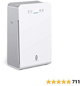 TaoTronics TT-AP007 Air Purifier for Home, H13 True HEPA Filter Bedroom Air Cleaner with Air Quality Monitor, Auto Purification Mode, Filter Pet Dander Dust Pollen Mold Spore