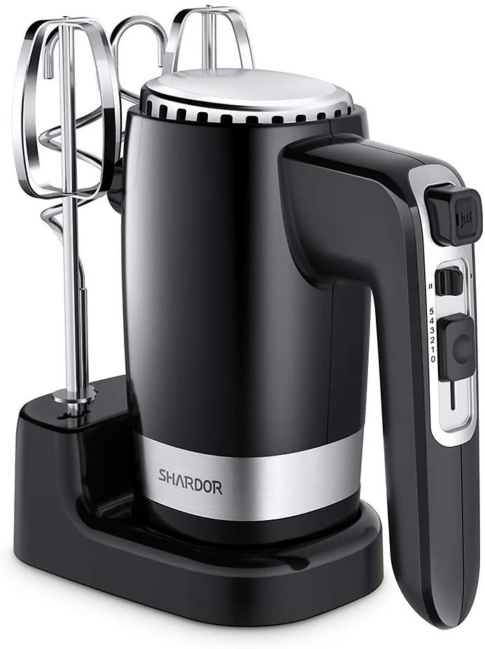 50 % Off SHARDOR Hand Mixer Powerful 300W Ultra Power Electric Hand Mixer with Turbo for Whipping Mixing Cookies, Brownies, Cake