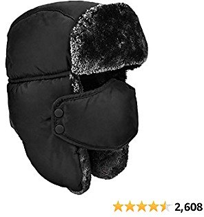 60% Off DOXHAUS Unisex Winter Ear Flap, Trooper, Trapper, Bomber Hat, Keeping Warm While Skating, Skiing Other Outdoor Activitie