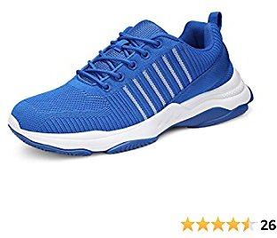 Uubaris Men's Trail Running Cool Gym Shoes Lightweight Athletic Sneakers