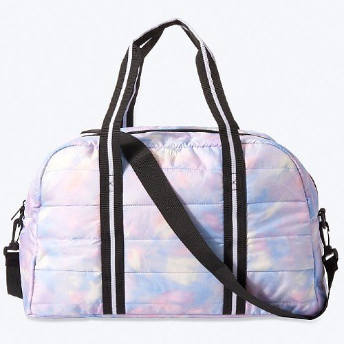$13.99 PINK Quilted Duffle Bag