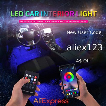 Save 41% + Save 4$ W/ Code On Led Car Foot Ambient Light