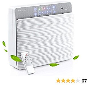 Air Purifier for Home, MISSUE H13 HEPA Air Purifier for Large Room, Bedroom, Medium Room, Smart Air Filter with Air Quality Sensor, Sleep Mode, Timer, 7-Stage Filtration for Odors, Dust, Smoke, Pets