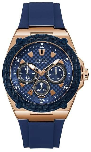 Blue and Gold-Tone Chronograph Watch