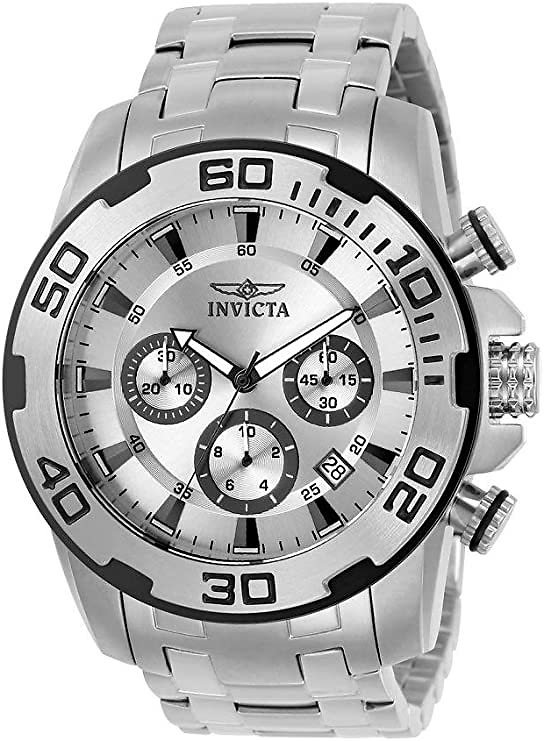 Invicta Men's Pro Diver Quartz Watch with Stainless Steel Strap, Silver, 26 (Model: 22317-I): Invicta: Watches