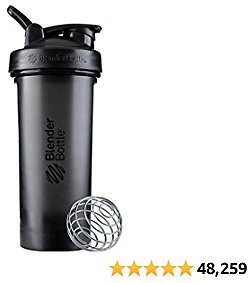 BlenderBottle Classic V2 Shaker Bottle Perfect for Protein Shakes and Pre Workout, 28-Ounce, Black