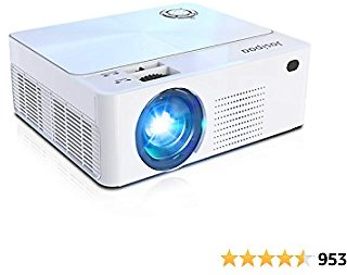 Mini Projector, 1080P Full HD Supported Movie, 6500 Lumens Video Projector for Indoor, Home, Office