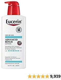 Eucerin Advanced Repair Lotion, Fragrance Free, 16.9 Fl Oz