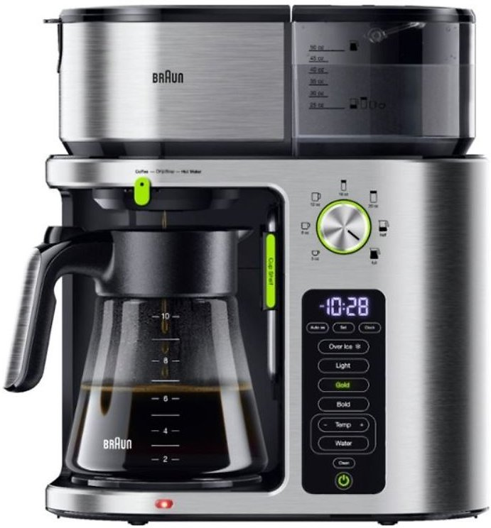 Braun MultiServe 10-Cup Coffee Maker Stainless Steel KF9170SI