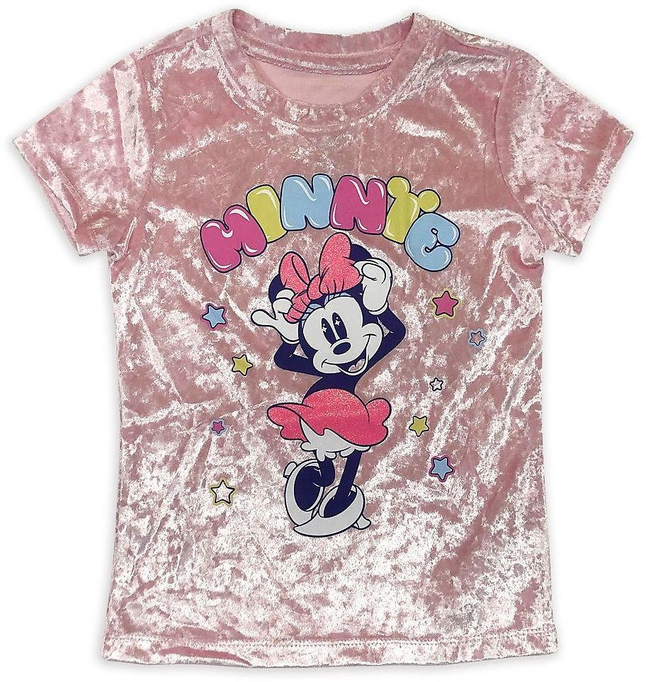 Minnie Mouse Velour T-Shirt for Girls | ShopDisney