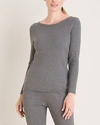 Cotton-Cashmere Blend Ribbed Top