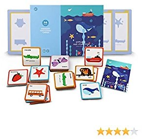 Toddler Flash Cards Games- Preschool Activities Learning Montessori Toys Wooden Jigsaw Puzzles Flashcards for Age 2 3 4 5 Years Old Educational for Kids