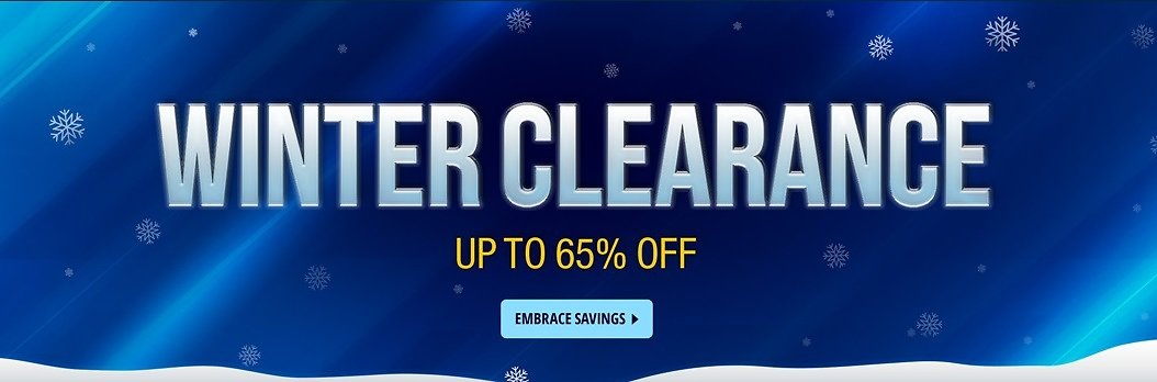 Up to 65% Off Winter Clearance from $3.39