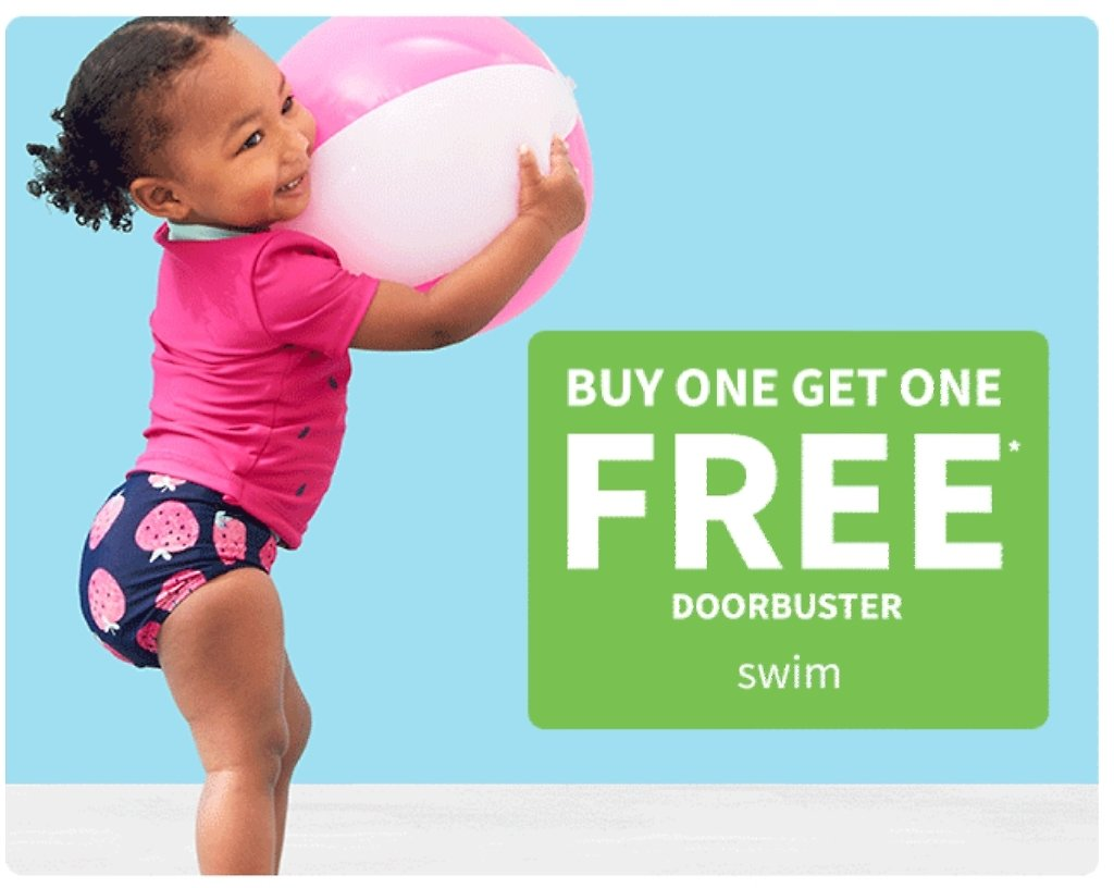 Buy One Get One Free Swim | Carter's | Free Shipping