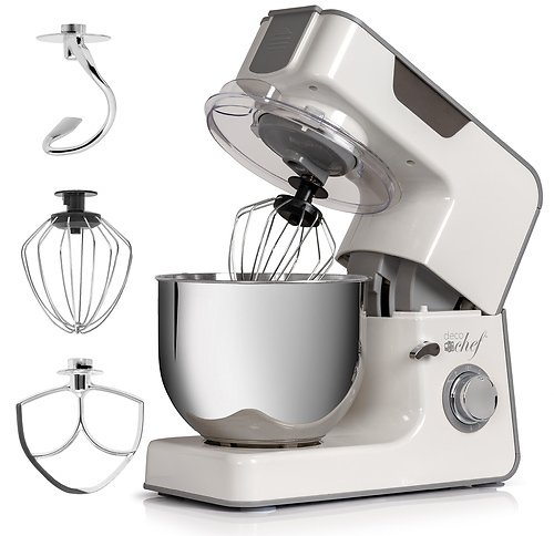 Deco Chef 5.5 QT Kitchen Stand Mixer, 550W 8-Speed Motor, Includes 3 Mixing Attachments