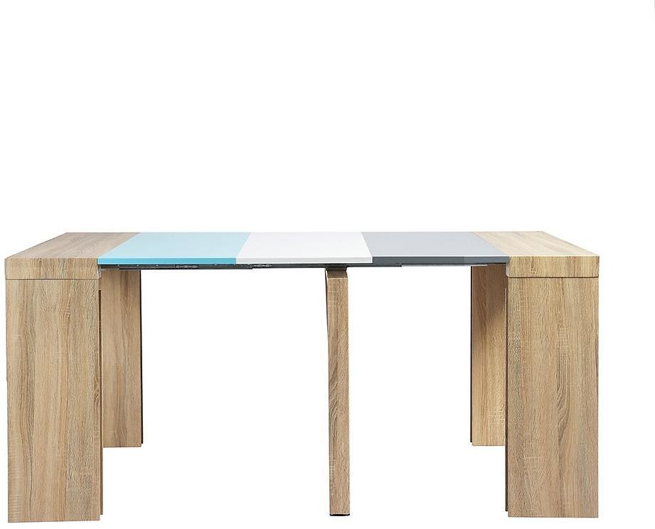 Sumyeg Multi-Colored E1 MDF Wooden Extendable Table Rectangular Dining Table with Melamine+PU Spray Painting Drop Leafs-BOYILAN