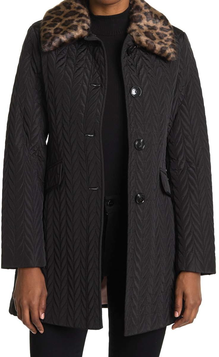 82% Off Kate Spade New York Quilted Faux Fur Coat