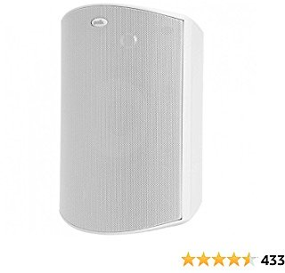 Polk Audio Atrium 8 SDI Flagship Outdoor All-Weather Speaker (White) - Use As Single Unit or Stereo Pair   Powerful Bass & Broad Sound Coverage