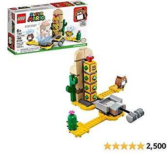 LEGO Super Mario Desert Pokey Expansion Set 71363 Building Kit; Toy for Creative Kids to Combine with The Super Mario Adventures with Mario Starter Course (71360) Playset, New 2020 (180 Pieces)