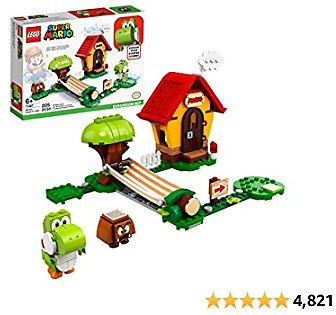 LEGO Super Mario Mario's House & Yoshi Expansion Set 71367 Building Kit, Collectible Toy to Combine with The Super Mario Adventures with Mario Starter Course (71360) Set, New 2020 (205 Pieces)
