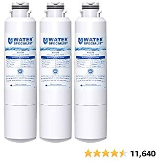 Waterspecialist DA29-00020B Samsung Water Filter for Refrigerator, Replacement for DA29-00020A/B, Haf-Cin/Exp, DA29-00020B-1, RF25HMEDBSR, RF28HMEDBSR, RS25J500DSR&More Models, 3 Carbon Filters