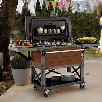 Keter Patio Cooler and Beverage Cart