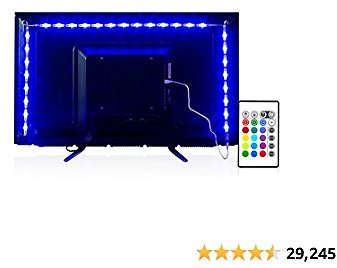 PANGTON VILLA Led Strip Lights 6.56 Feet for 40-60 Inch TV Usb Backlight Kit with Remote Rgb 16 Colors Bias Mood Lamp for Bedroom, Room Hdtv