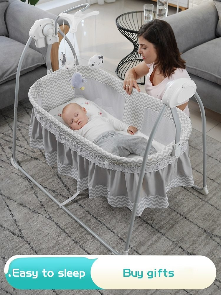 US $119.4 40% OFF 2020 Hot Sell Newborn Rocking Bed with Music Baby Electric Cradle Sleep Basket Shake Bed Baby Intelligent Sleep Swing Bed Cradle  - AliExpress