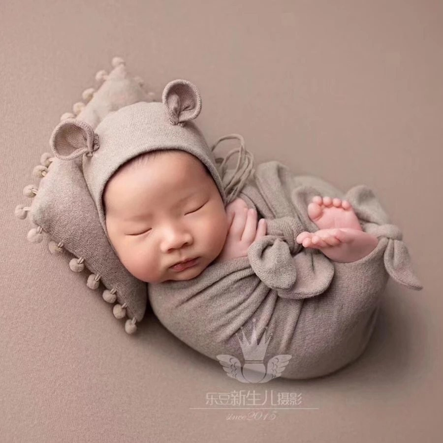150*150cm Newborn Photography Prop Blanket Double-sided Velvet Baby Background for Photo Studio Baby Photography Backdrop,#P2561