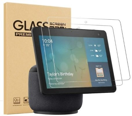 [2 Pack] Epicgadget Glass Screen Protector for Amazon Echo Show 10 (3rd Gen)