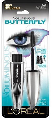 L'Oreal Paris Voluminous Butterfly Lengthening Washable Mascara, Black Brown, 0.22 Fl. Oz.