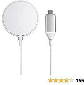 Magnetic Wireless Charger, Anker Wireless Charger with 5ft Built in USB-C Cable, PowerWave Magnetic Pad Only for IPhone 12/12 Pro / 12 Pro Max / 12 Mini (No AC Adapter)