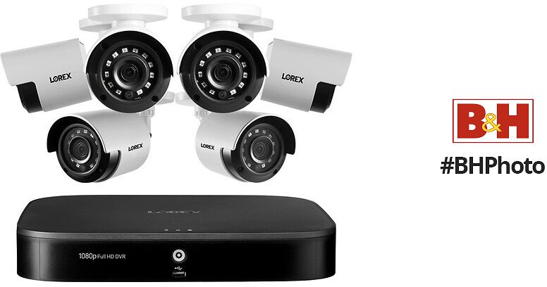 Lorex D241A81-62NA 8-Channel 1080p DVR with 1TB HDD & 6 1080p Outdoor Night Vision MPX Bullet Cameras