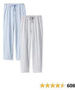 Femofit Pajama Pants for Women, Lounge Pant Cotton Pajama Pant Pajama Bottoms Sleepwear Pack of 2 S~XL