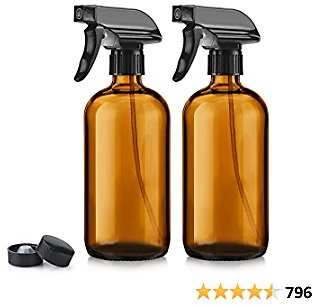 Save 50% On 2-Pack 16oz Titanker Amber Glass Spray Bottles + Free Shipping with Prime