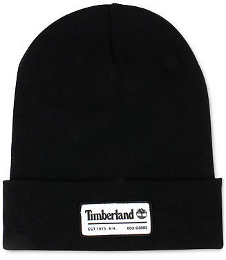 Timberland Men's Slouch Patch Logo Beanie & Reviews - Hats, Gloves & Scarves - Men