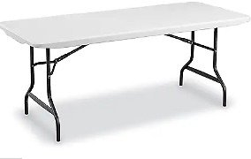 Staples Folding Table (72-inch L x 29-inch)