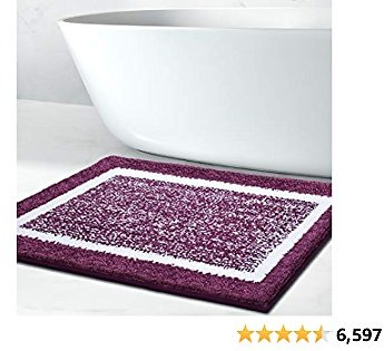 Bathroom Rug Mat, Ultra Soft and Water Absorbent Bath Rug, Bath Carpet, Machine Wash/Dry, for Tub, Shower, and Bath Room